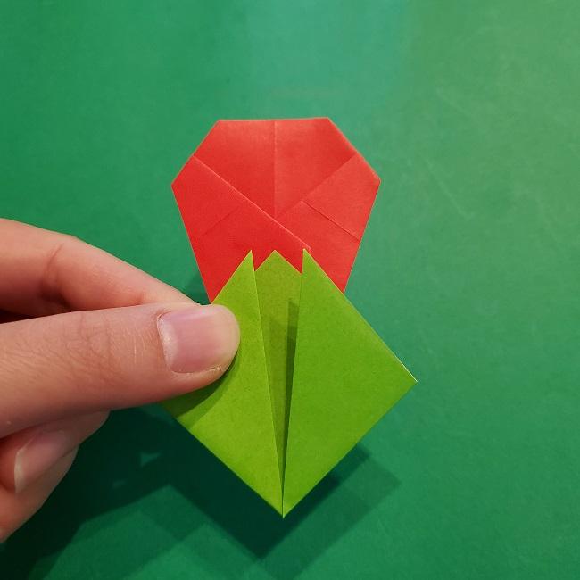 梅の花【つぼみ】の折り紙*折り方 (21)