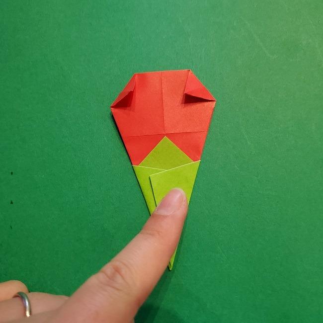梅の花【つぼみ】の折り紙*折り方 (22)
