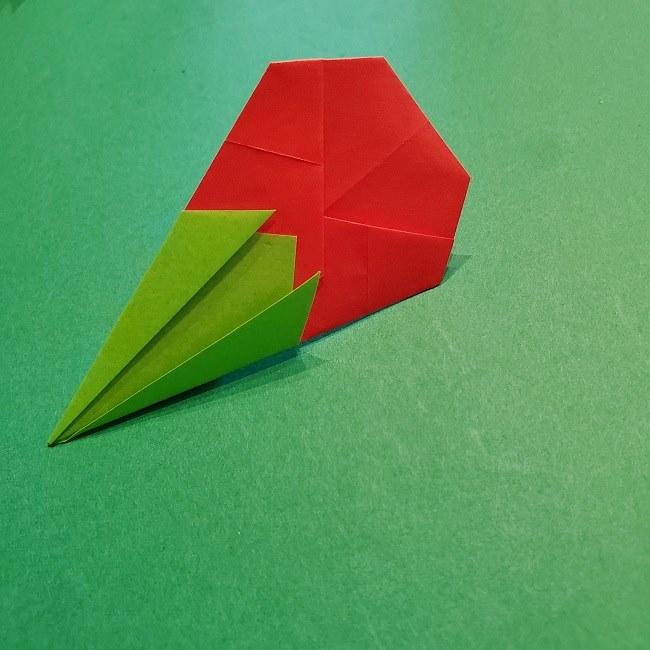 梅の花【つぼみ】の折り紙*折り方 (23)