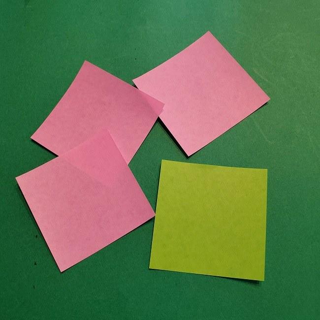 梅の花【つぼみ】の折り紙*折り方 (24)