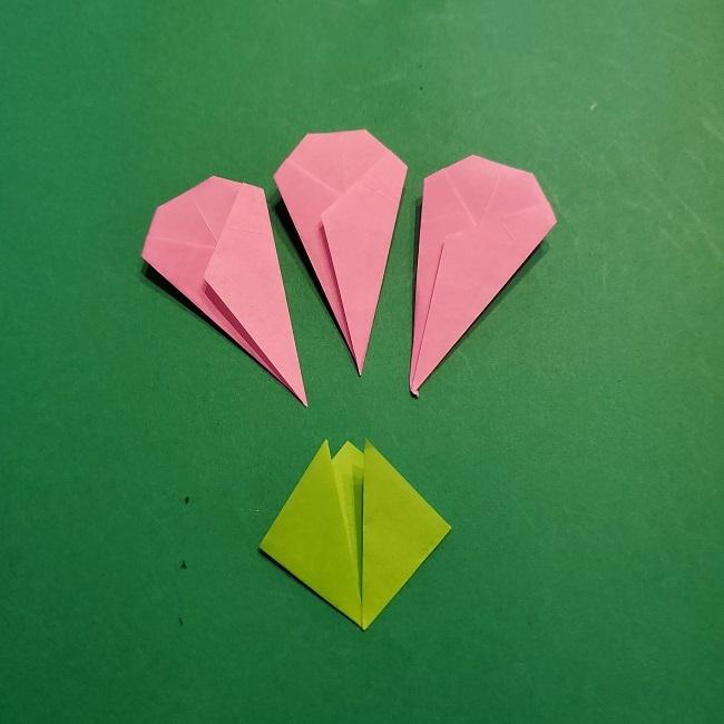 梅の花【つぼみ】の折り紙*折り方 (25)