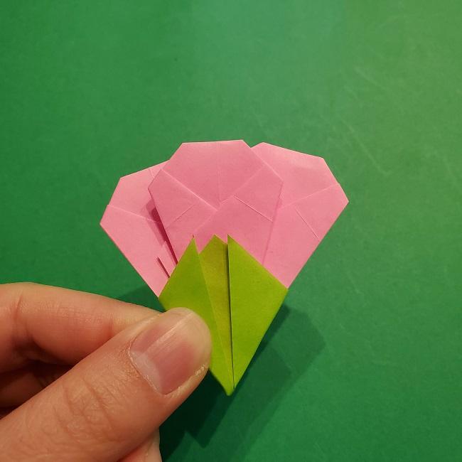 梅の花【つぼみ】の折り紙*折り方 (26)