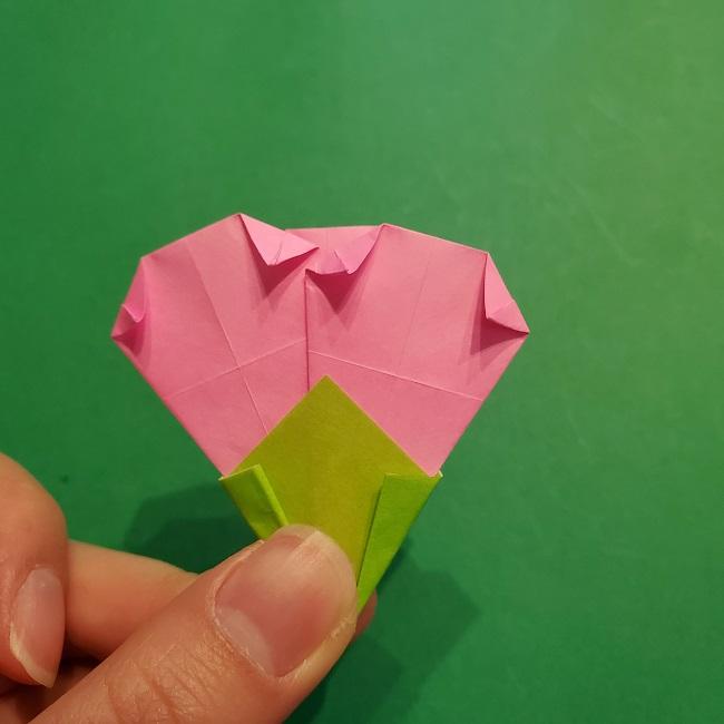 梅の花【つぼみ】の折り紙*折り方 (27)