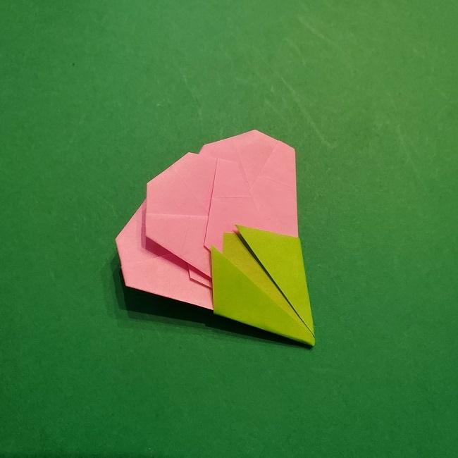 梅の花【つぼみ】の折り紙*折り方 (28)