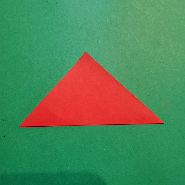 梅の花【つぼみ】の折り紙*折り方 (3)