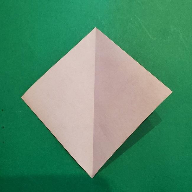梅の花【つぼみ】の折り紙*折り方 (4)