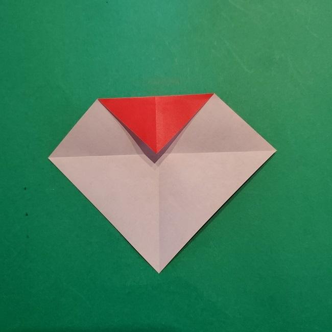 梅の花【つぼみ】の折り紙*折り方 (7)