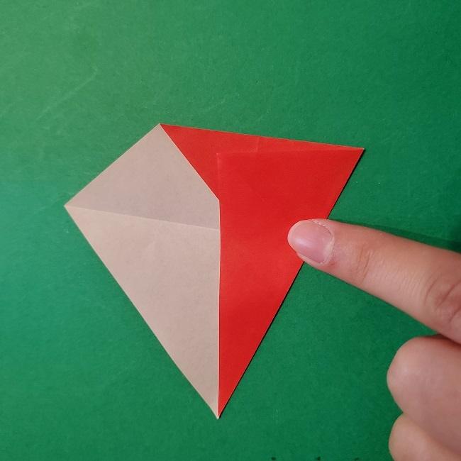 梅の花【つぼみ】の折り紙*折り方 (8)