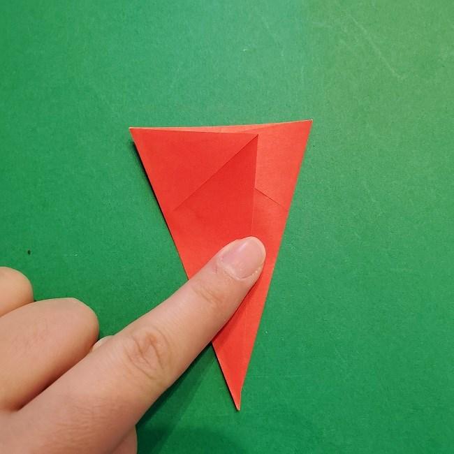 梅の花【つぼみ】の折り紙*折り方 (9)