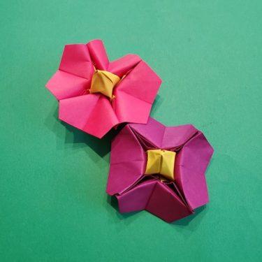 椿の折り紙(立体)の作り方★お正月に最適な1月のかわいい花
