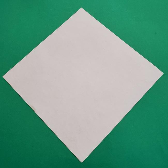 椿の折り紙(立体)の作り方・折り方 (1)