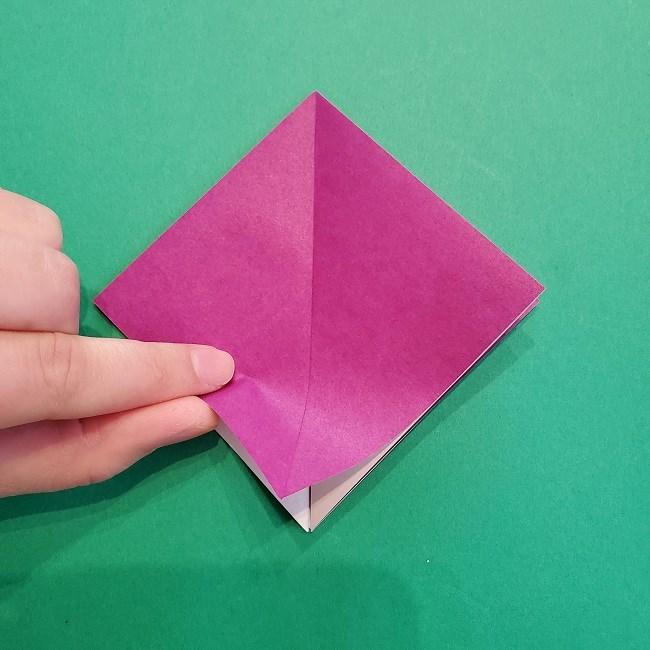 椿の折り紙(立体)の作り方・折り方 (10)