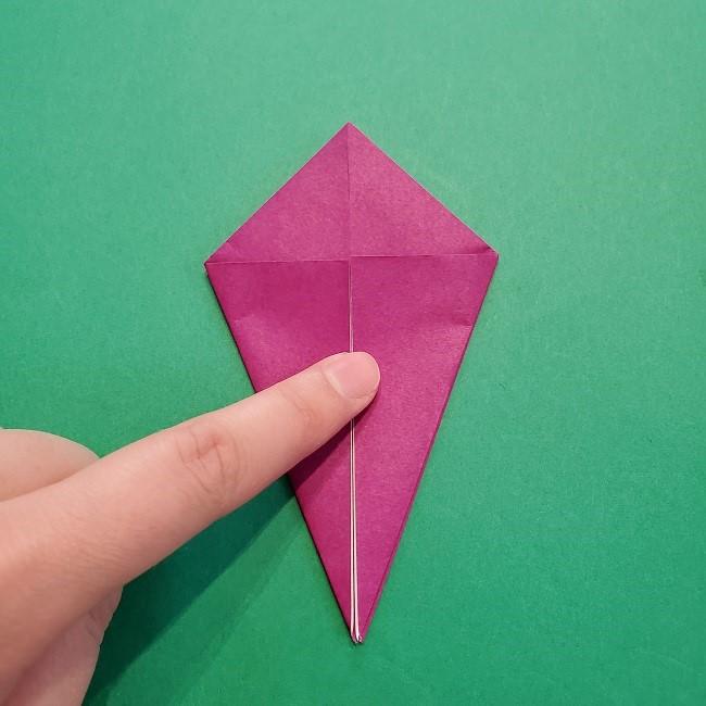 椿の折り紙(立体)の作り方・折り方 (12)
