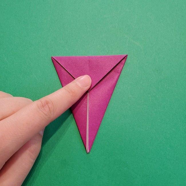 椿の折り紙(立体)の作り方・折り方 (13)