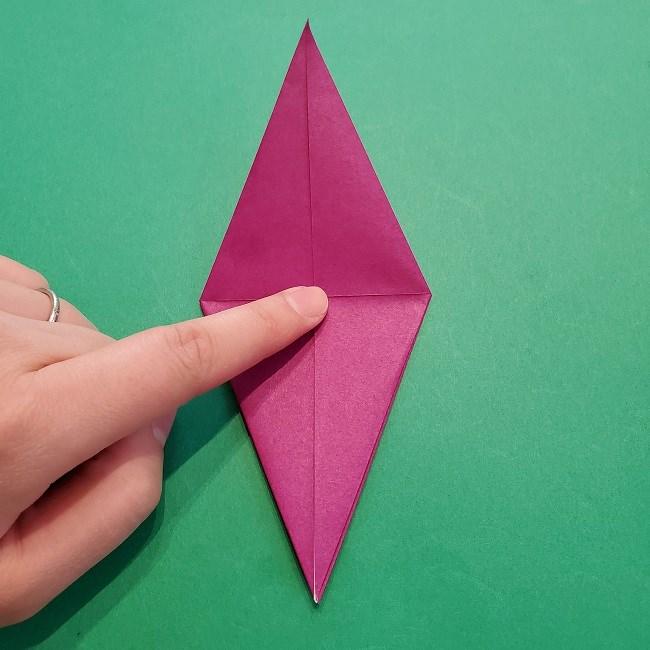 椿の折り紙(立体)の作り方・折り方 (18)