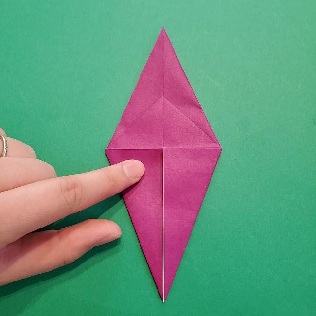 椿の折り紙(立体)の作り方・折り方 (19)