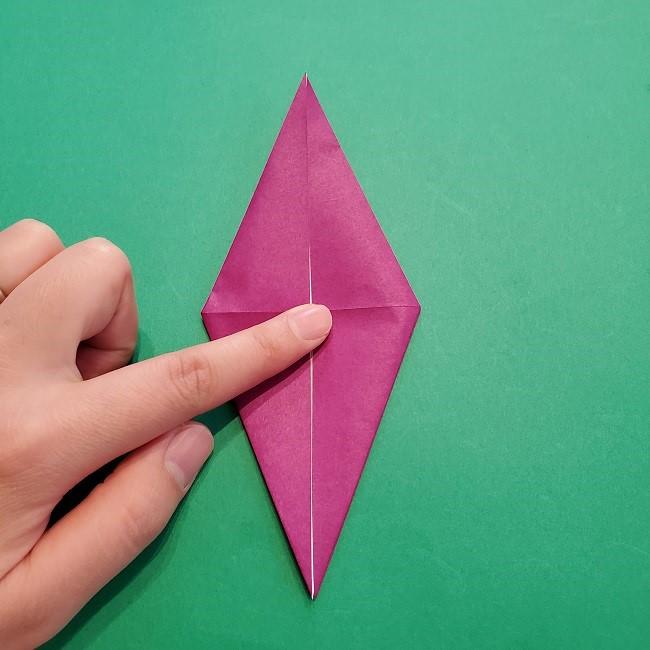 椿の折り紙(立体)の作り方・折り方 (21)