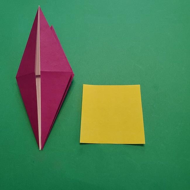 椿の折り紙(立体)の作り方・折り方 (22)