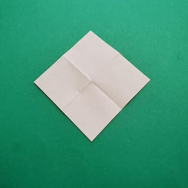 椿の折り紙(立体)の作り方・折り方 (25)