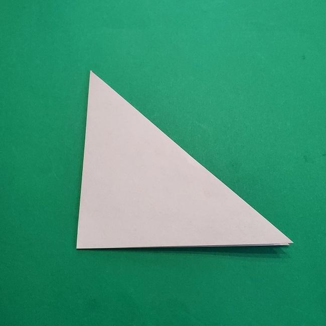 椿の折り紙(立体)の作り方・折り方 (3)