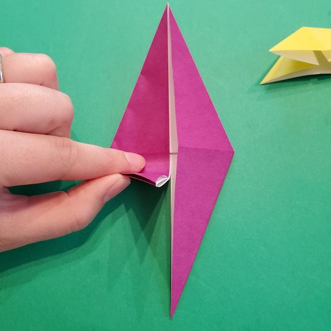 椿の折り紙(立体)の作り方・折り方 (30)