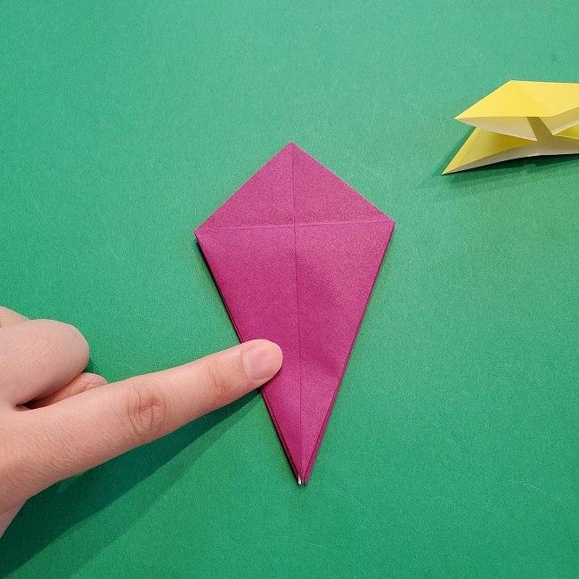 椿の折り紙(立体)の作り方・折り方 (33)