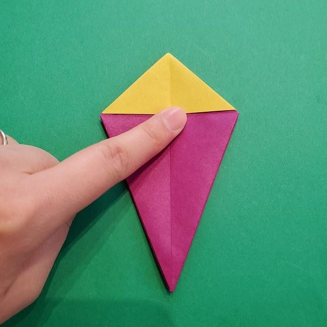 椿の折り紙(立体)の作り方・折り方 (36)
