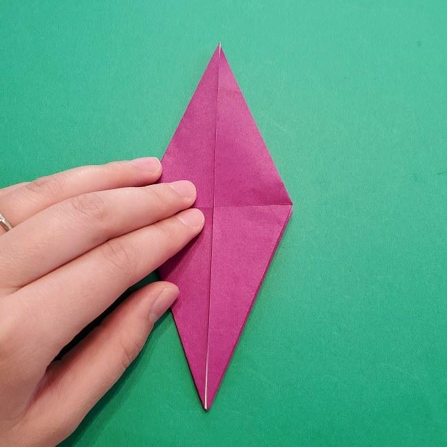 椿の折り紙(立体)の作り方・折り方 (37)