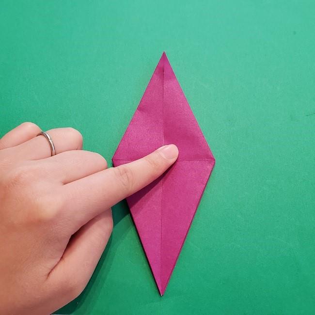 椿の折り紙(立体)の作り方・折り方 (38)