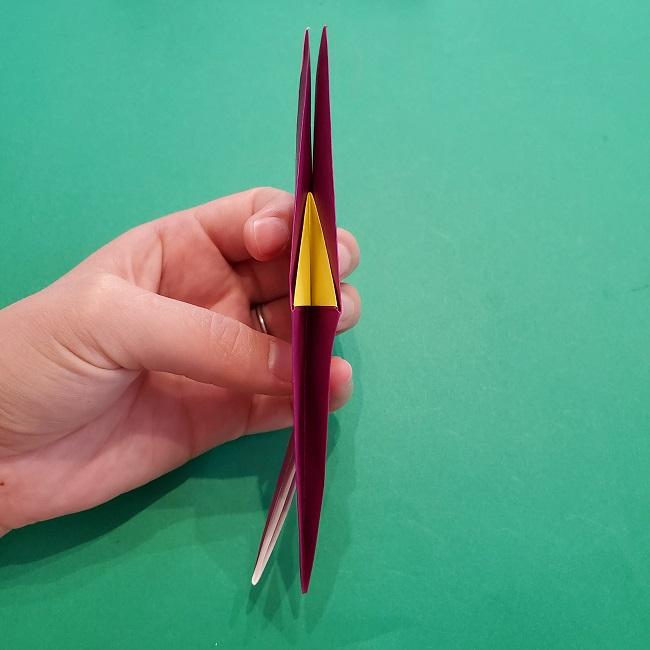 椿の折り紙(立体)の作り方・折り方 (39)