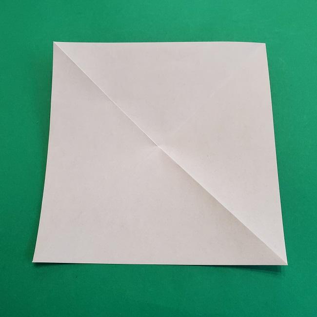 椿の折り紙(立体)の作り方・折り方 (4)