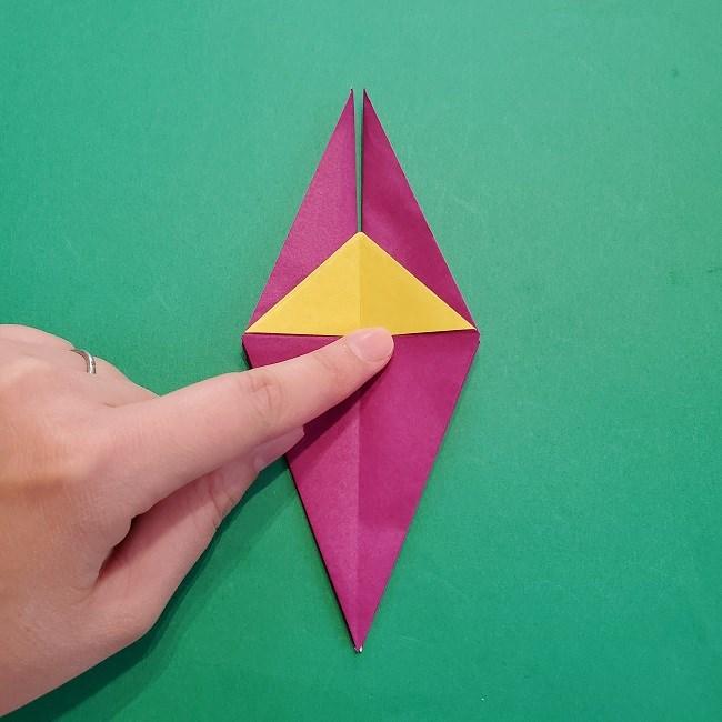 椿の折り紙(立体)の作り方・折り方 (41)