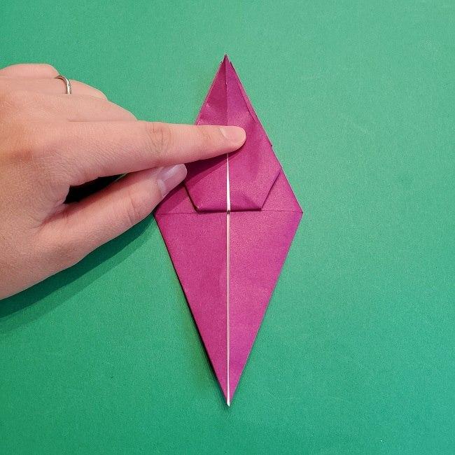 椿の折り紙(立体)の作り方・折り方 (46)