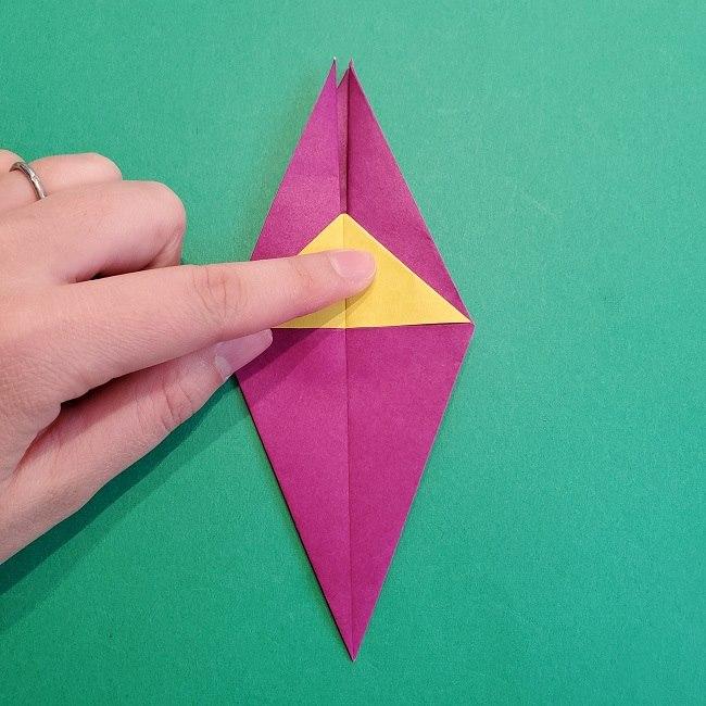 椿の折り紙(立体)の作り方・折り方 (47)