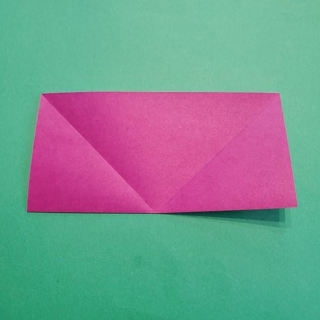 椿の折り紙(立体)の作り方・折り方 (5)