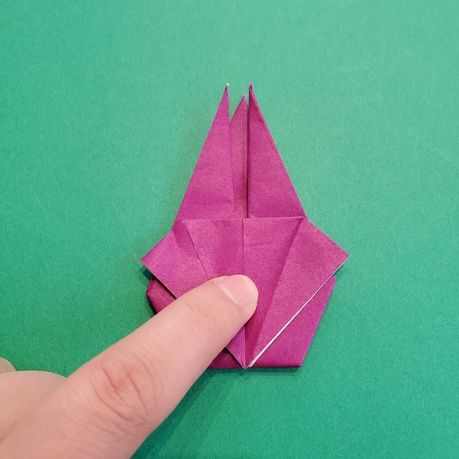椿の折り紙(立体)の作り方・折り方 (52)
