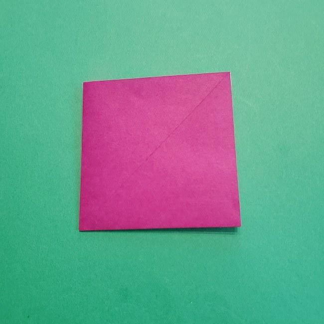 椿の折り紙(立体)の作り方・折り方 (6)