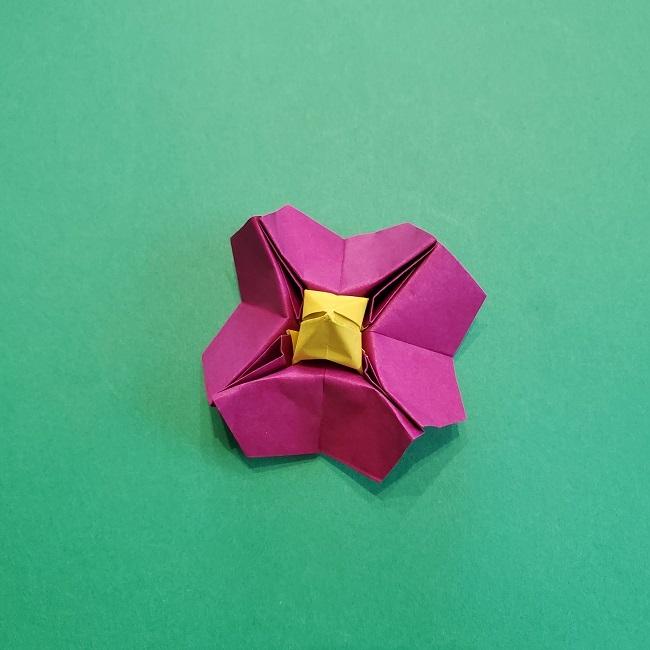 椿の折り紙(立体)の作り方・折り方 (66)