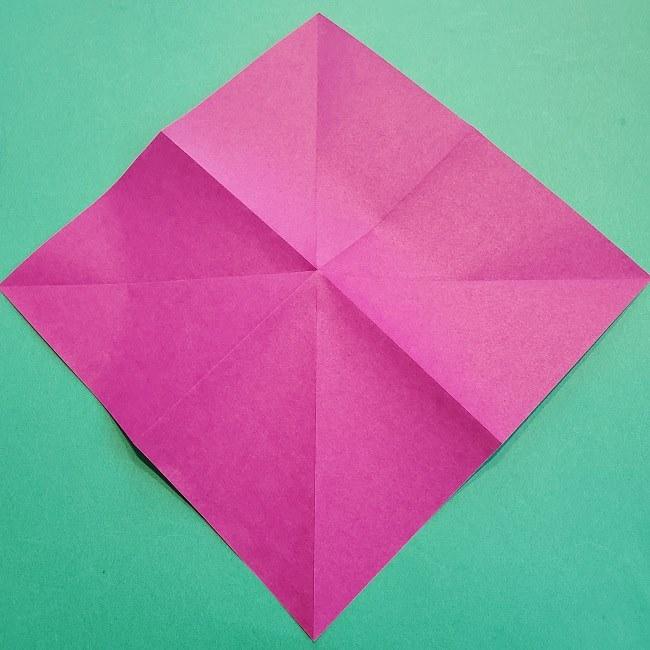 椿の折り紙(立体)の作り方・折り方 (7)