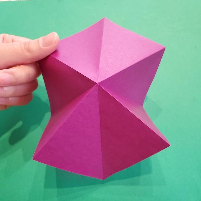 椿の折り紙(立体)の作り方・折り方 (8)