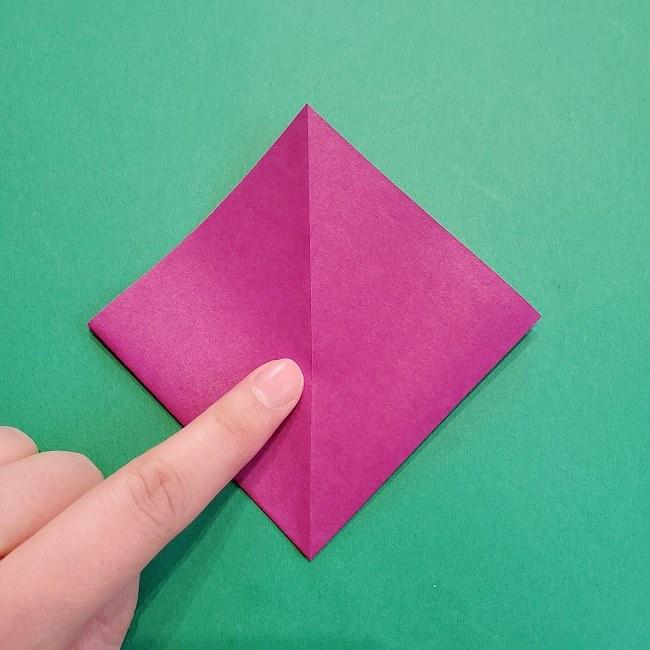 椿の折り紙(立体)の作り方・折り方 (9)