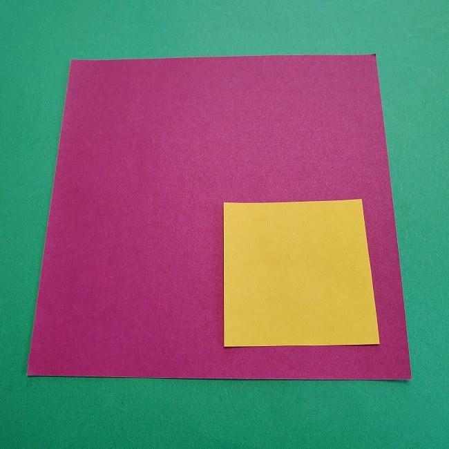 椿の折り紙(立体):用意するもの