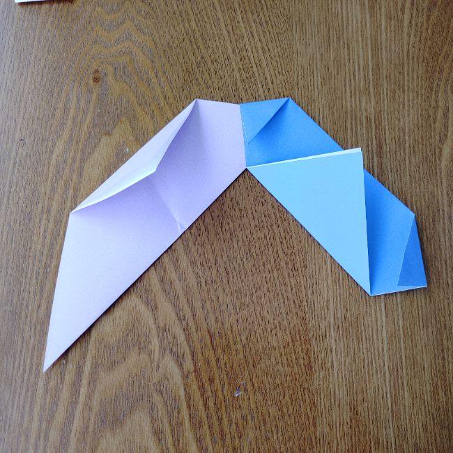 節分のリースの折り方(土台作り) (7)