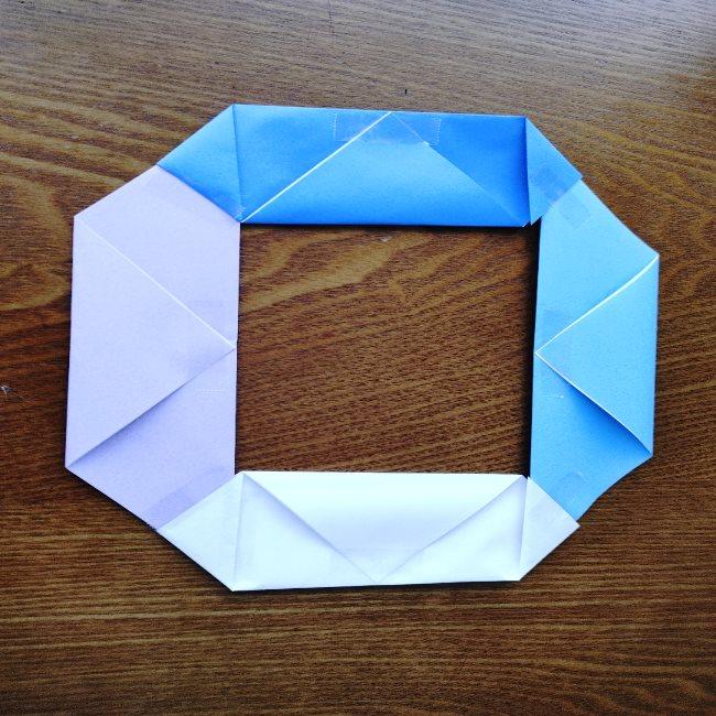 節分のリースの折り方(土台作り) (8)