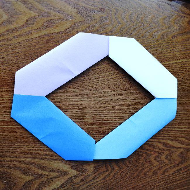 節分のリースの折り方(土台作り) (9)