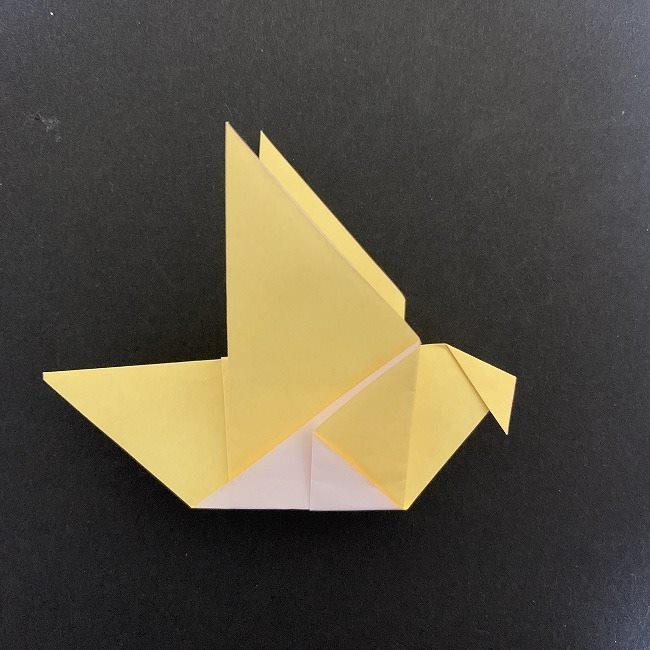 羽ばたく鳩の折り紙*折り方 (11)