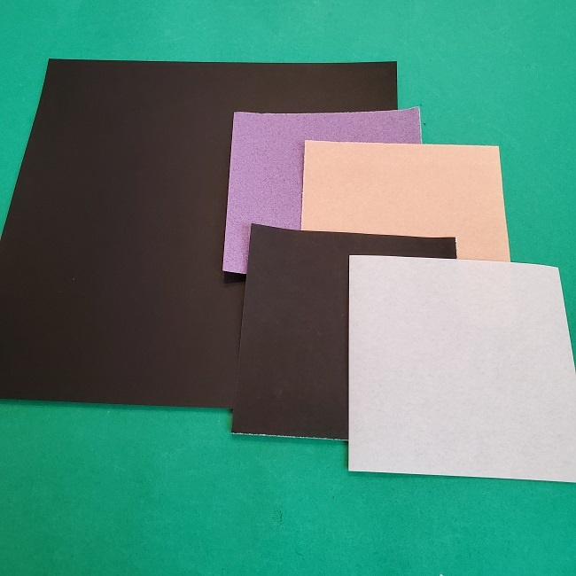 胡蝶しのぶの折り紙*材料 (1)