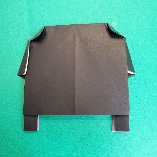 胡蝶しのぶの髪飾りの作り方(折り紙は紫色) (10)