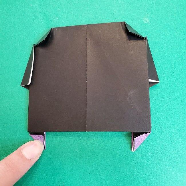 胡蝶しのぶの髪飾りの作り方(折り紙は紫色) (11)