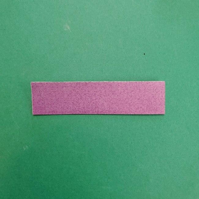 胡蝶しのぶの髪飾りの作り方(折り紙は紫色) (12)